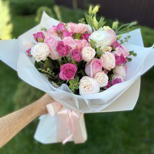 роза с эустомой в Чернигове фото